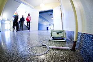Radonsniffing på arbeidsplass